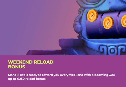 reload bonus maneki