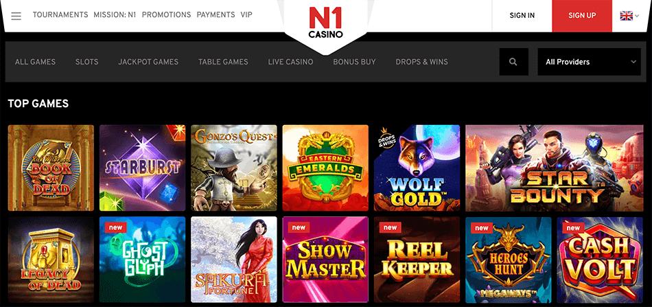 Spelaanbod N1 casino