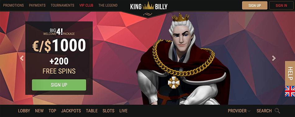 Welkomstbonus van King Billy