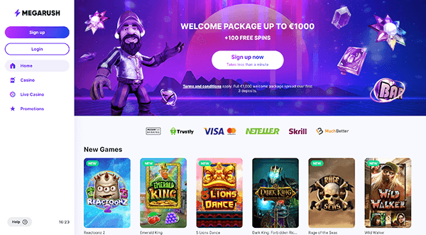 MegaRush casino review