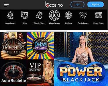 Live casino en tafelspellen