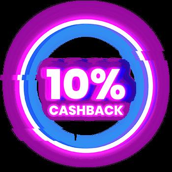 10% cashback op elke storting