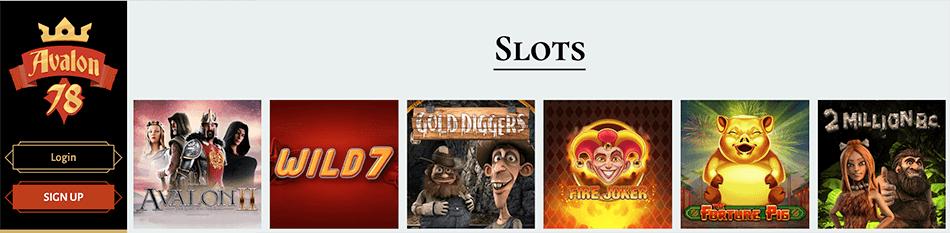 Favoriete slots speel je meteen in het Avalon78 casino
