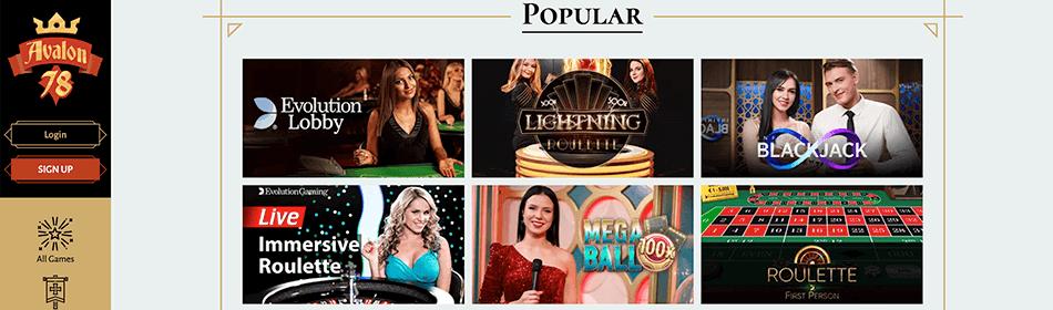 Live casino door Evolution Gaming