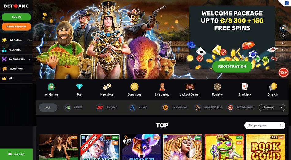 Casino screenshot van betamo