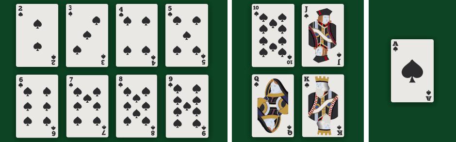 Kaart waardes pontoon blackjack