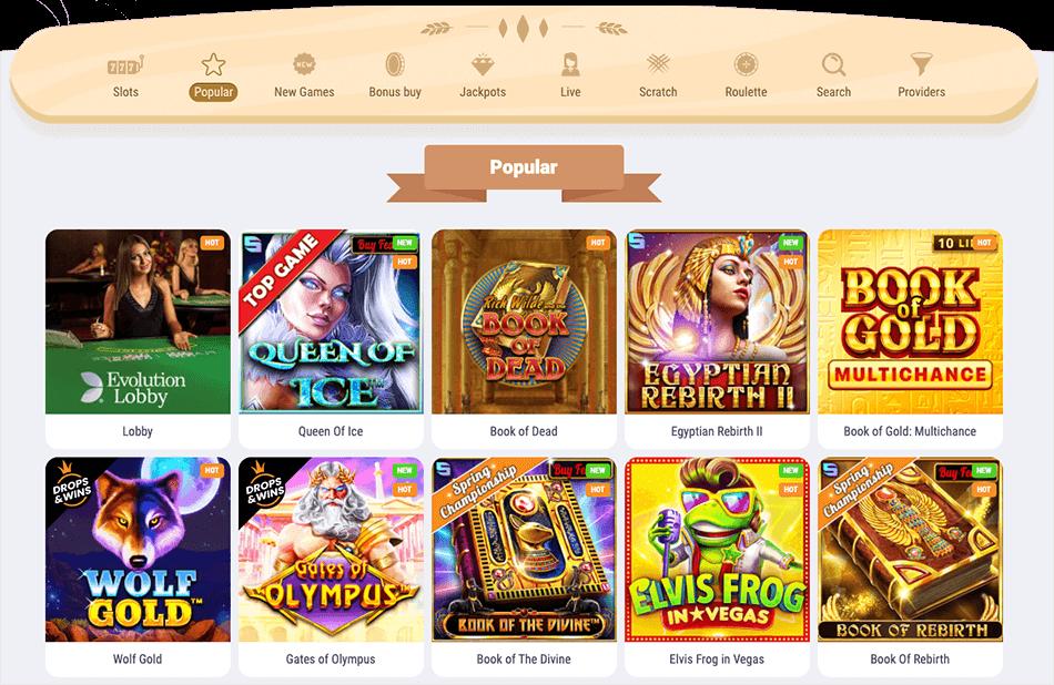 spelaanbod cookie casino