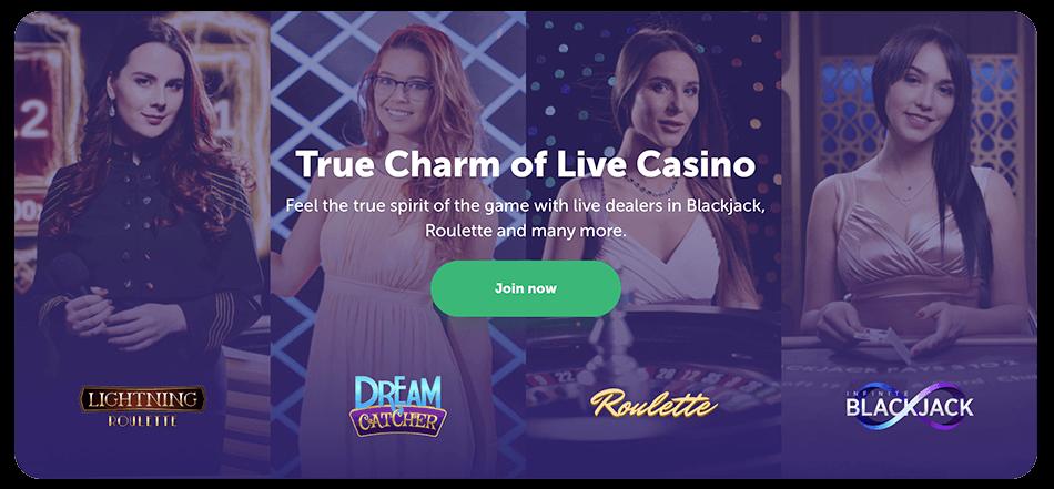 Live casino van True flip