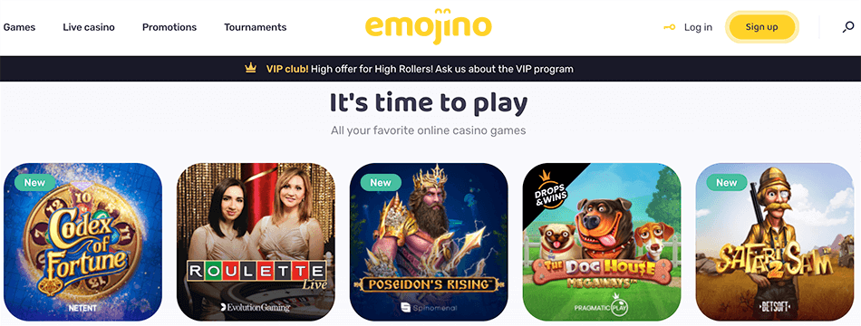 Hoogste tijd om de spellen te spelen bij Emojino