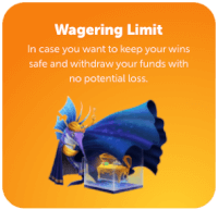 wagering limit online casino