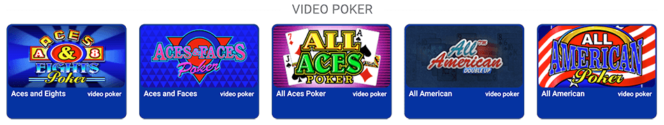 Videopoker games