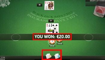 Blackjack 21 punten