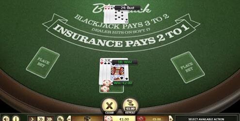 Blackjack casino spellen