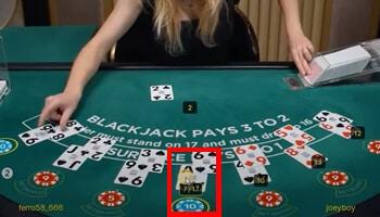 Blackjack kaarten uitdelen