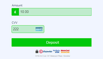 Casino deposit controle
