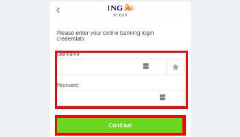 Log in met je bankgegevens