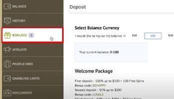 No deposit bonus claimen