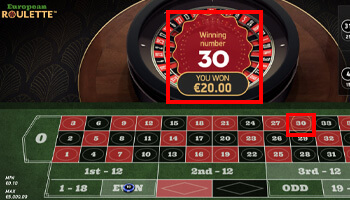 Online Roulette winnen