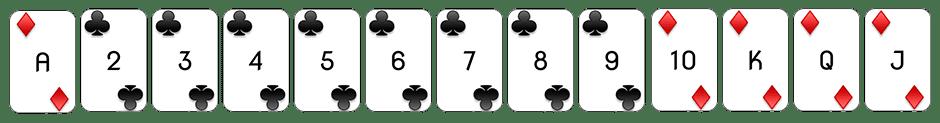 Speelkaarten punto banco