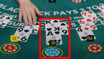 live blackjack derde kaart
