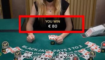 live blackjack einde