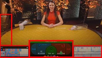 live casino baccarat spel