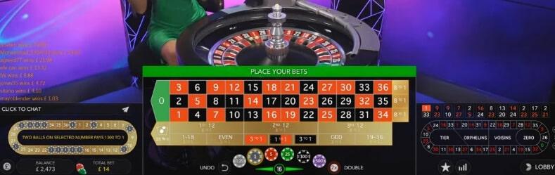 live casino tafel